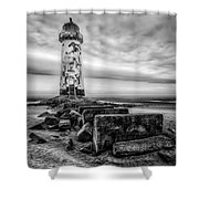 Point Of Ayre Lighthouse Shower Curtain