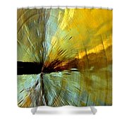 Point Of Impact In Copper And Green2 Shower Curtain
