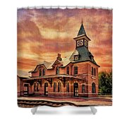 Point Of Rocks Train Station  Shower Curtain