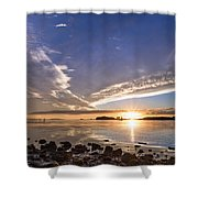Point Of The Sunset Shower Curtain