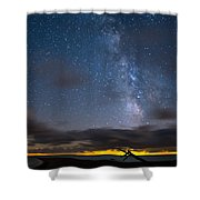 Point Pelee Milky Way Shower Curtain