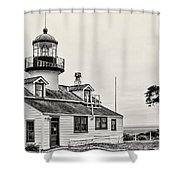 Point Pinos Lighthouse By Diana Sainz Shower Curtain