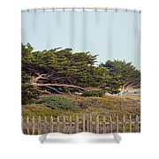 Point Pinos Lighthouse Pacific Grove California Shower Curtain
