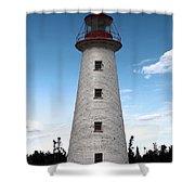 Point Prim Lighthouse 3 Shower Curtain