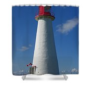 Point Prim Lighthouse Shower Curtain