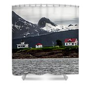 Point Retreat Shower Curtain by Robert Bales