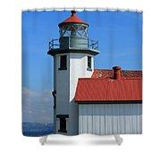 Point Robinson Light House Shower Curtain