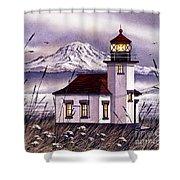 Point Robinson Lighthouse Shower Curtain