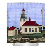 Point Robinson With Shoreline Detail 2013 Shower Curtain