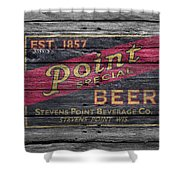 Point Special Beer Shower Curtain
