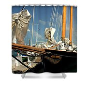 Point To The Stars  Shower Curtain