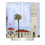 Point Vicente Lighthouse Shower Curtain by Anne Norskog