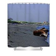 Point Wilson Lighthouse And Beach Shower Curtain