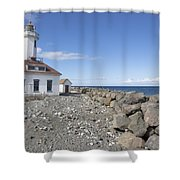 Point Wilson Lighthouse Shower Curtain