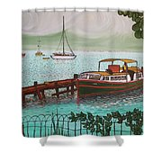 Pointe-a-pitre Martinique Across From Fort Du France Shower Curtain