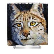 Pointed Advantage - Siberian Lynx Shower Curtain