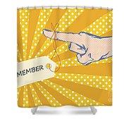 Pointing Finger Pop Art Vector Shower Curtain