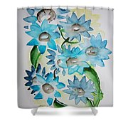 Pointy Petals Shower Curtain