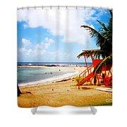 Poipu Beach Kauai Hawaii Shower Curtain