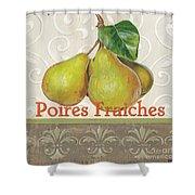Poires Fraiches Shower Curtain by Debbie DeWitt