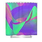 Poised Shower Curtain by ME Kozdron