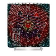 Poker Addiction Digital Painting Shower Curtain