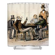 Poker Game, 1840s Shower Curtain