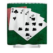 Poker Hands - Dead Man's Hand 2 V.2 Shower Curtain