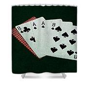 Poker Hands - Dead Man's Hand Shower Curtain