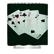 Poker Hands - High Card 4 Shower Curtain