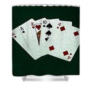 Poker Hands - One Pair 1 Shower Curtain