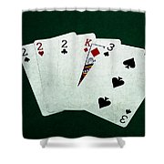 Poker Hands - Three Of A Kind 1 Shower Curtain