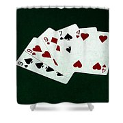 Poker Hands - Three Of A Kind 2 Shower Curtain