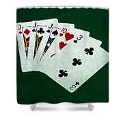 Poker Hands - Three Of A Kind 3 Shower Curtain