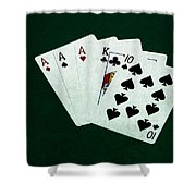 Poker Hands - Three Of A Kind 4 Shower Curtain
