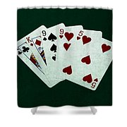Poker Hands - Two Pair 1 Shower Curtain