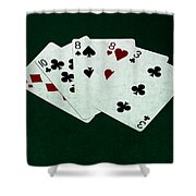 Poker Hands - Two Pair 4 Shower Curtain