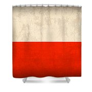 Poland Flag Distressed Vintage Finish Shower Curtain by Design Turnpike
