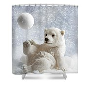 Polar Bear Decoration Shower Curtain