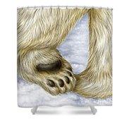 Polar Bear Paw Shower Curtain