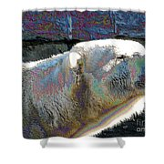 Polar Bear With Enameled Effect Shower Curtain