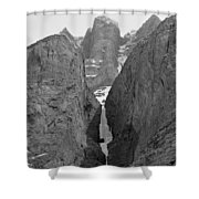 1m3649-bw-polar Circus Ice Route Shower Curtain