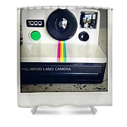 Polaroid Camera.  Shower Curtain