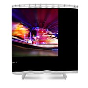 Polaroid Fire Shower Curtain