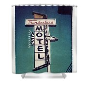 Polaroid Transfer Motel Shower Curtain by Jane Linders
