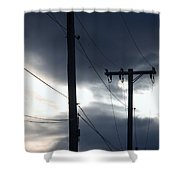 Poles And Sunsets Shower Curtain