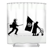 Police And Granny Shower Curtain