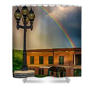 Police At The End Of The Rainbow Shower Curtain