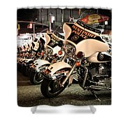 Police Bikes In New York Shower Curtain