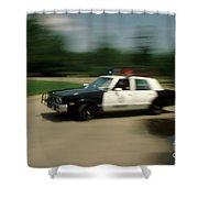 Police Car Shower Curtain